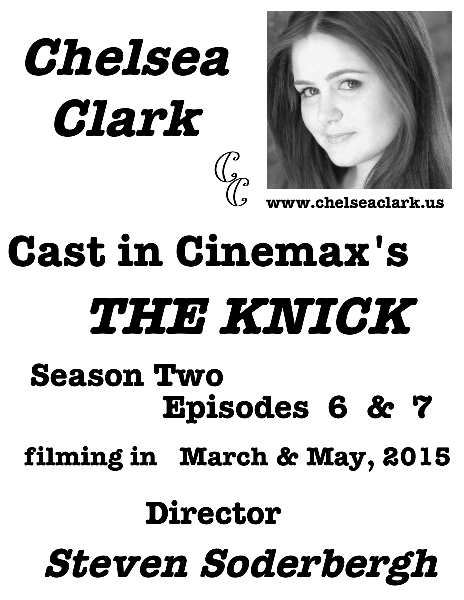 Chelsea Clark cast in THE KNICK