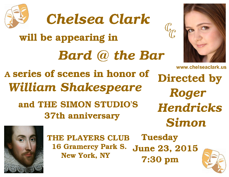 Chelsea Clark in Bard @ the Bar, scenes in honor of William Shakespeare and the Simon Studio's 37th anniversary