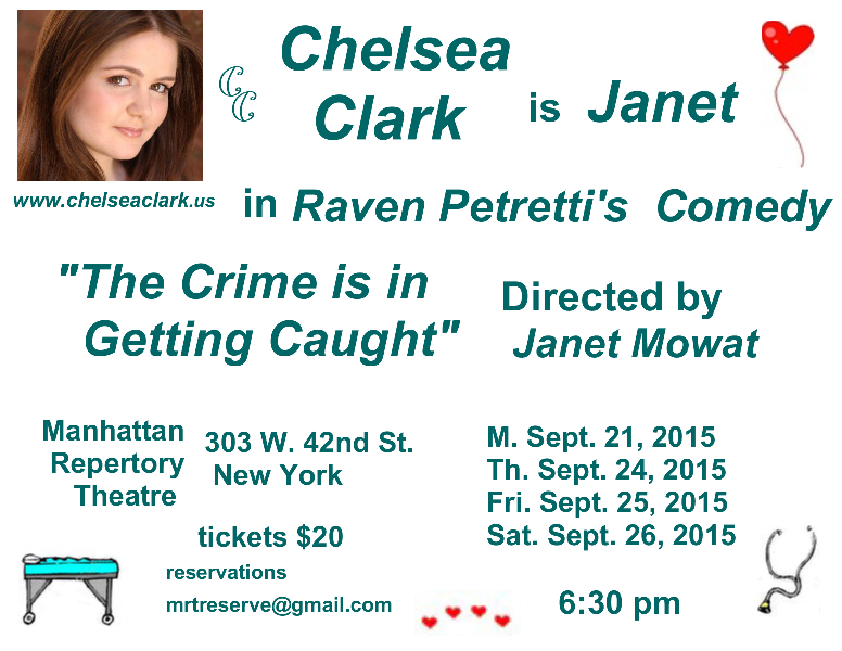 Chelsea Clark in The Crime is in Getting Caught at Manhattan Repertory Theatre
