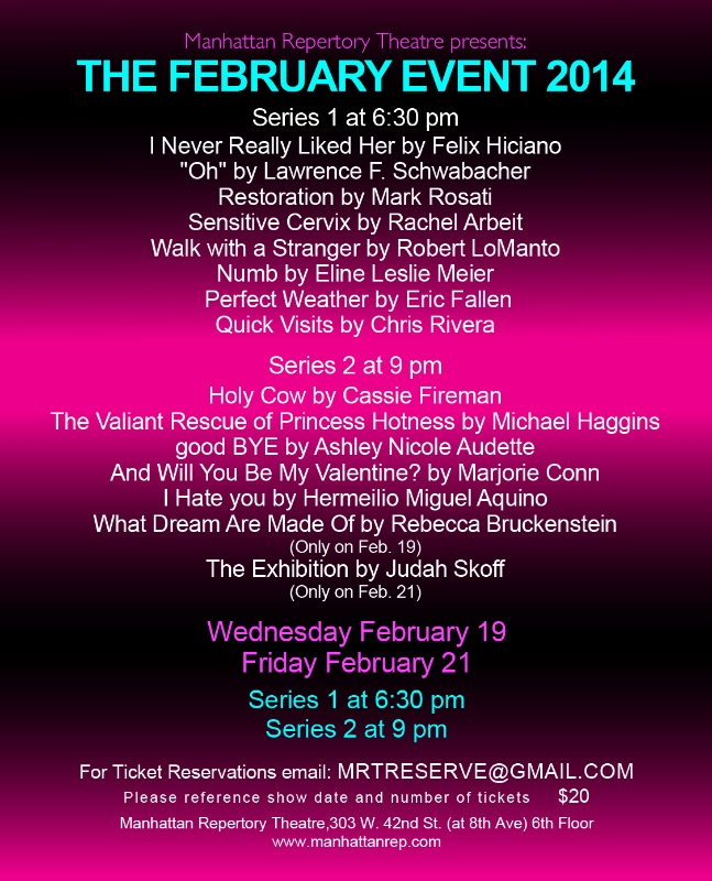 Manhattan Repertory Theatre's THE FEBRUARY EVENT with Chelsea Clark