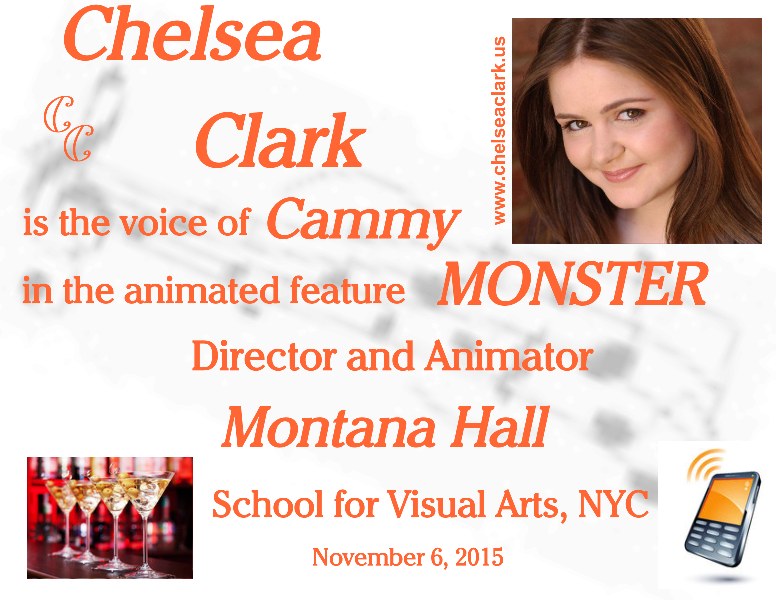 Chelsea Clark is Cammy in the animated feature, MONSTER by Montana Hall, SVA