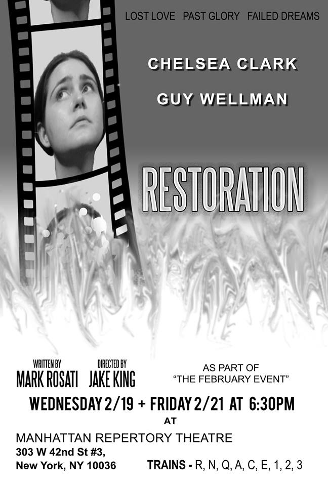 Chelsea Clark in RESTORATION at Manhattan Repertory Theatre